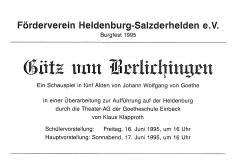 1995 Götz von Berlichingen